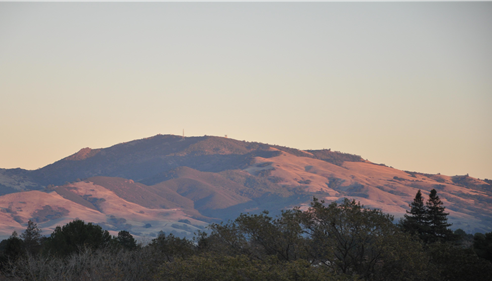 Love the views of Mt. Diablo out my back office window.