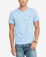 Image of Polo Ralph Lauren Men's Core Medium-Fit V-Neck Cotton Jersey T-Shirt
