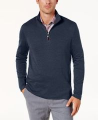 Image of Tasso Elba Men's Supima® Cotton Quarter-Zip Sweater, Created for Macy's