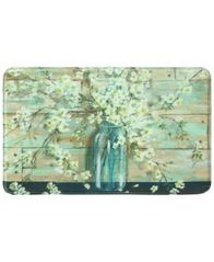 "Image of Bacova Blossoms in Jar 22"" x 35"" Rectangular Accent Rug"