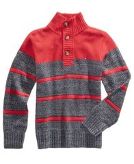 Image of Tommy Hilfiger Vince Striped Cotton Sweater, Big Boys