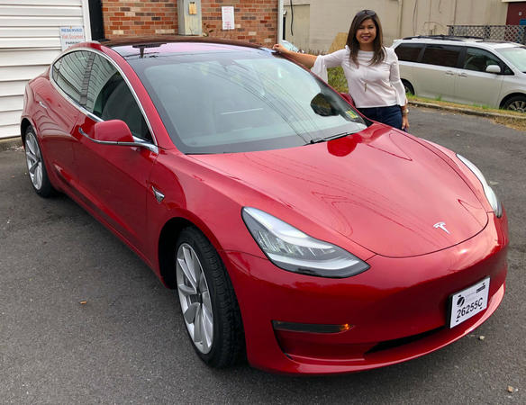 New Client with her Tesla