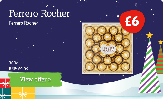 Ferrero Rocher offer available until 31st December