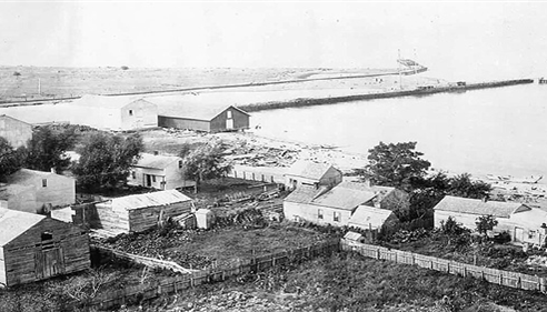 Fairport Beach circa 1850 .... near the current grand river opening