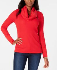 Image of Tommy Hilfiger Cowl-Neck Thermal Top, Created for Macy's