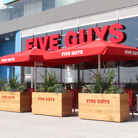 Five Guys Burgers and Fries Restaurant Brighton Marina