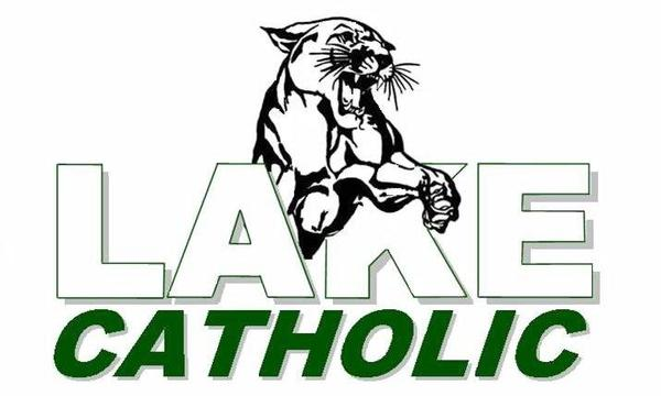 Lake Catholic logo with Cougar