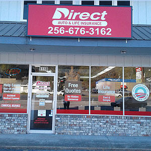 Front of Direct Auto store at 1118 South Quintard Avenue, Anniston