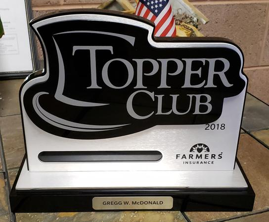 Image of the Topper Club award