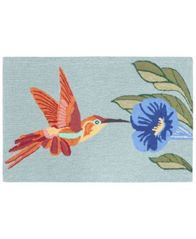 Image of Liora Manne Front Porch Indoor/Outdoor Hummingbird Sky 2'6'' x 4' Area Rug