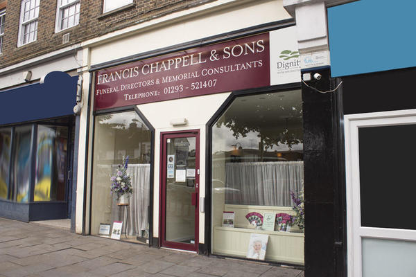 Francis Chappell & Sons Funeral Directors in High Street, Crawley