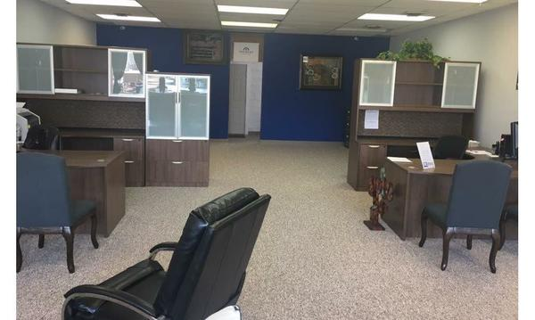 The inside of a Farmers agency