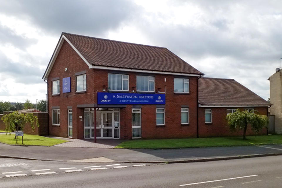 H. Dale Funeral Directors in Sandford Hill, Longton, Stoke on Trent.