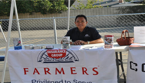 my booth at a Fil-Am event in Van Nuys CA