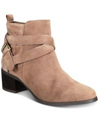 Image of Anne Klein Javen iFlex Block-Heel Zip Booties