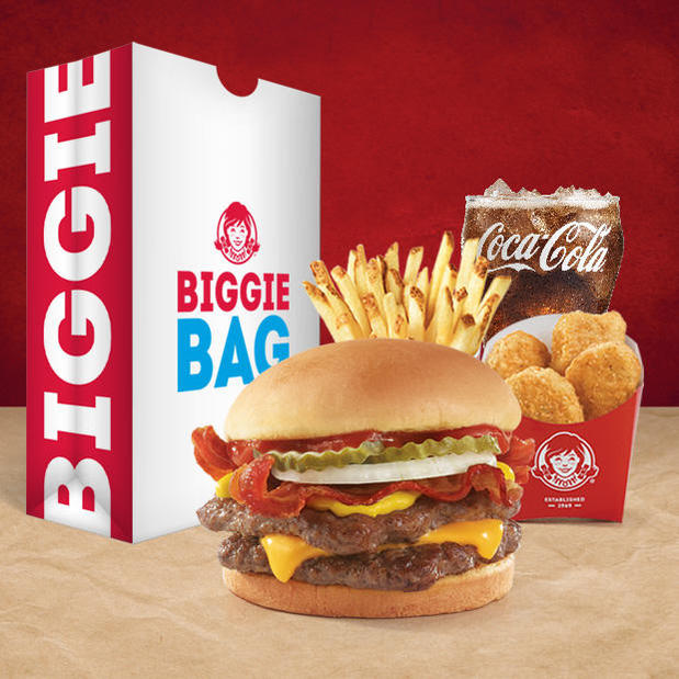 Wendy's $5 Bacon Double Stack™ Biggie™ Bag
