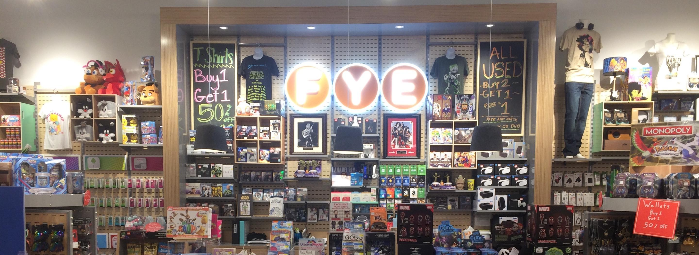 Navigate to image of FYE store experience