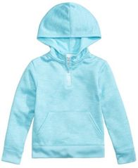 Image of Champion Quarter-Zip Hooded Sweatshirt, Little Girls