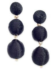 Image of INC International Concepts Gold-Tone Threaded Ball Drop Earrings, Created for Macy's