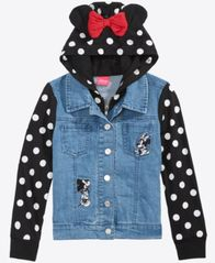 Image of Disney Little Girls Layered-Look Denim Jacket