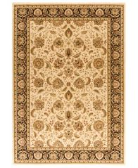 "Image of CLOSEOUT! Kenneth Mink Area Rug, Warwick Kashan Wheat/Black 3'3"" x 5'3"""