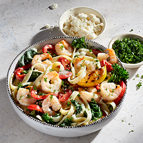 Photo of LEMON & GARLIC SHRIMP PASTA