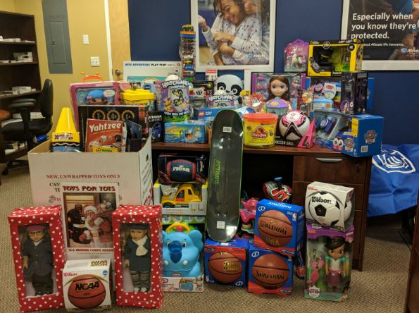 Stockwell Agency LLC - Allstate Foundation Helping Hands Grant for Marine Toys for Tots