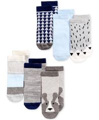 Image of First Impressions 6-Pk. Crew Socks, Baby Boys (0-24 months), Created for Macy's