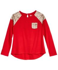 Image of Epic Threads Sequin Long-Sleeve T-Shirt, Big Girls (7-16), Created for Macy's