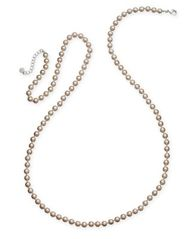 Image of Charter Club Silver-Tone Imitation Pearl Long Statement Necklace, Created for Macy's