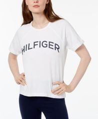 Image of Tommy Hilfiger Sport Logo High-Low T-Shirt, Created for Macy's