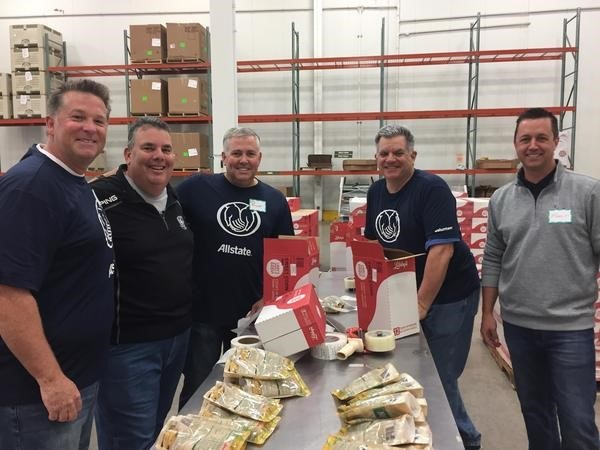 James E Towns - The Allstate Family was happy to help the Northern Illinois Food Bank