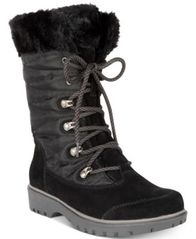 Image of Bare Traps Satin Lace-Up Cold-Weather Boots