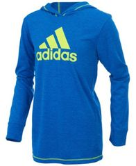 Image of adidas Logo-Print Hooded Sweatshirt, Little Boys (4-7)