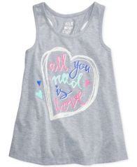 Image of Max & Olivia All You Need Is Love Pajama Tank, Little Girls (4-6X), Big Girls (7-16)), Created for M