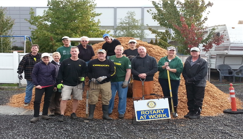 The Rotary Foundation and Delta Rotary Work Party September 2014