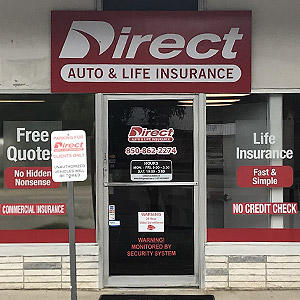 Front of Direct Auto store at 250 North East Eglin Parkway, Fort Walton Beach