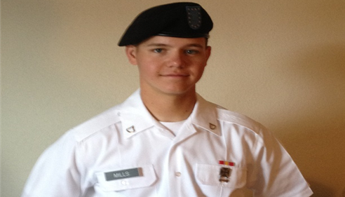 My son Austin J Mills one of the US Army's newest soldiers!