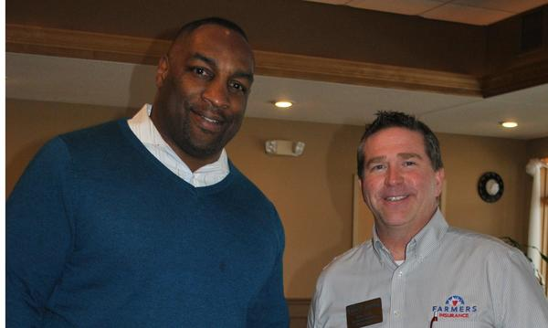 Bob with Darrel Thompson, former Green Bay Packer and current President of Boulder Options