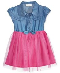 Image of First Impressions Denim & Tulle Dress, Baby Girls, Created for Macy's