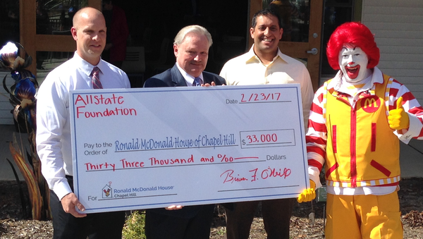 Colin deSouza - Allstate Foundation Helping Hands Grant for Ronald McDonald House