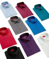 Image of Alfani Slim Fit + Stretch Men's Dress Shirt, Created for Macy's