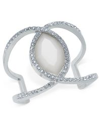 Image of INC International Concepts Large Stone and Pavé Cuff Bracelet, Created for Macy's