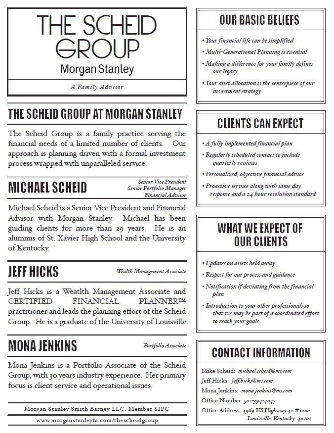 The Scheid Group | Louisville, KY | Morgan Stanley Wealth