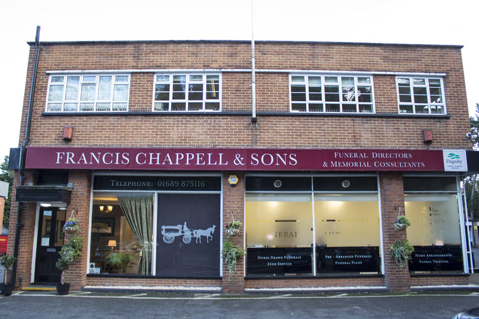 Francis Chappell & Sons Funeral Directors in Sevenoaks Road, Orpington