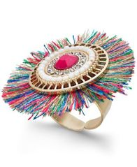 Image of Thalia Sodi Gold-Tone Crystal & Stone Fan Ring, Created for Macy's