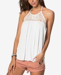 Image of O'Neill Juniors' Palla Crochet-Yoke Halter Top