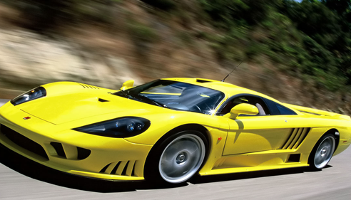 yellow racecar