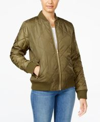 Image of Say What? Juniors' Quilted Bomber Jacket