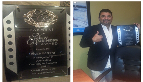 Our Agency won a New Customer award in 2013!